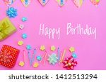 happy birthday greeting card... | Shutterstock . vector #1412513294