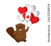 balloons helium with canadian...   Shutterstock .eps vector #1412526914