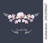beautiful watercolor flowers...   Shutterstock . vector #1412530667