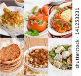 Collage Of Middle Eastern Food...