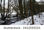 Beautiful Snow And Stream In...