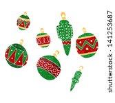 cartoon christmas bauble | Shutterstock .eps vector #141253687