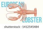 european lobster vector... | Shutterstock .eps vector #1412545484
