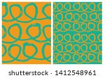 set of 2 hand drawn irregular... | Shutterstock .eps vector #1412548961