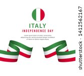 happy italy national day... | Shutterstock .eps vector #1412562167