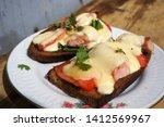 hot sandwiches. cheese ... | Shutterstock . vector #1412569967