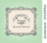 hand drawn vintage frame | Shutterstock .eps vector #141259561