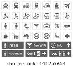 public signs set | Shutterstock .eps vector #141259654