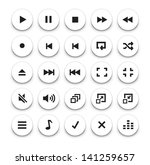 video audio player buttons | Shutterstock .eps vector #141259657