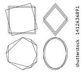 geometric polygonal frames  ...   Shutterstock .eps vector #1412636891