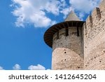 fortress tower with tiled roof... | Shutterstock . vector #1412645204