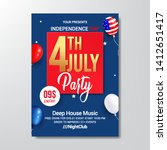 independence day  4th july... | Shutterstock .eps vector #1412651417