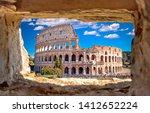 Colosseum Of Rome Scenic View...