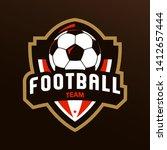 soccer logo or football club... | Shutterstock .eps vector #1412657444