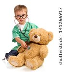 Little Boy With Stethoscope And ...