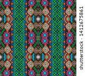 ikat art. african seamless...   Shutterstock . vector #1412675861
