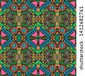 ikat art. african seamless...   Shutterstock . vector #1412682761