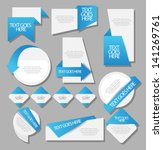 web sticker label badge set | Shutterstock .eps vector #141269761