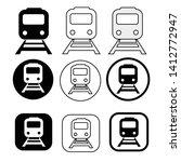set of transport train icon   Shutterstock .eps vector #1412772947