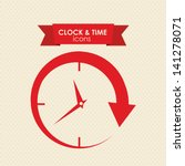 clock and time icon over white...   Shutterstock .eps vector #141278071