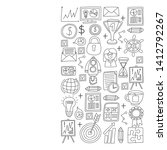 vector set of bussines icons in ... | Shutterstock .eps vector #1412792267
