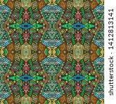 african repeat pattern....   Shutterstock . vector #1412813141