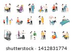 therapist with patient  medical ... | Shutterstock .eps vector #1412831774