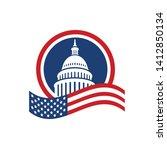 creative capitol building logo... | Shutterstock .eps vector #1412850134