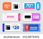 set of coupon promotion sale... | Shutterstock .eps vector #1412874341