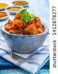 bombay aloo   indian spiced...   Shutterstock . vector #1412878277
