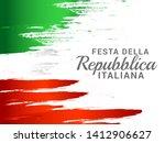 illustration of italy republic... | Shutterstock . vector #1412906627