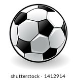 football on white background | Shutterstock . vector #1412914