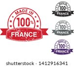 made in france collection of... | Shutterstock .eps vector #1412916341
