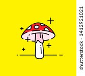 magic mushroom icon. red with... | Shutterstock .eps vector #1412921021