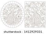 a set of contour illustrations... | Shutterstock .eps vector #1412929331