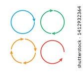circular arrows. arrows... | Shutterstock .eps vector #1412932364