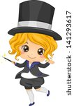 illustration of cute little... | Shutterstock .eps vector #141293617