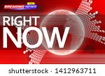 breaking news template on red... | Shutterstock .eps vector #1412963711