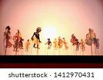 shadow play  shadow puppet ... | Shutterstock . vector #1412970431