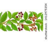 sandalwood vector pattern on...   Shutterstock .eps vector #1412975354