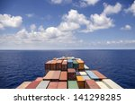 container ship move on the ocean