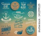summer vintage elements | Shutterstock .eps vector #141299125