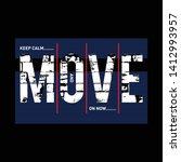 vintage typography slogan tee ...   Shutterstock .eps vector #1412993957
