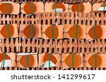 roof tiles background | Shutterstock . vector #141299617