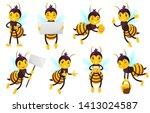 Cartoon Bee Character. Bees...