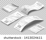 isometric receipts bill.... | Shutterstock .eps vector #1413024611