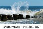 Waves Breaking And Splashing...