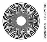circle geometric pattern.... | Shutterstock .eps vector #1413091601