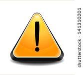warning danger sign | Shutterstock .eps vector #141310201