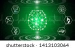 abstract background technology... | Shutterstock .eps vector #1413103064